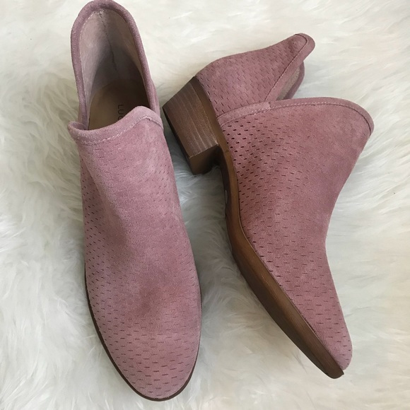 cc0a107211f87 Lucky Brand Shoes - Lucky Baley Perforated Blush Pink Cutout Booties